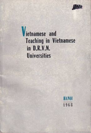 Vietnamese and Teaching Vietnamese in D.R.V.N. Universities. VIETNAMESE LANGUAGE