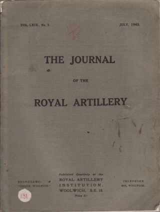 Article in The Journal of the Royal Artillery. SIR JOHN HEADLAM