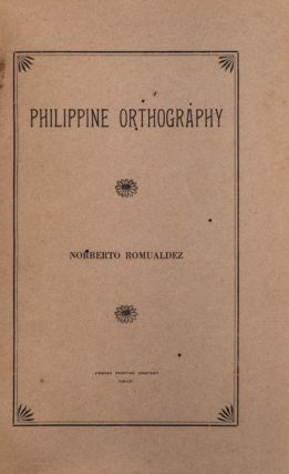 Philippine Orthography.