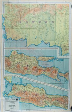 Sumatra (south), Java (extreme north west). Sheet G : Borneo (south west), Sumatra (extreme south), Java (east &​ west) Sheet H. Evasion Map]*. EVASION MAP.