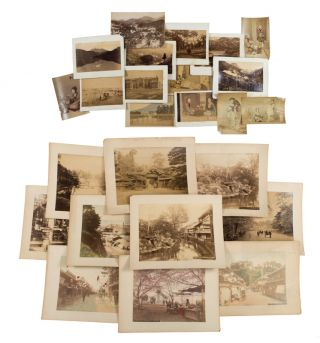 Collection of 25 Japanese Photographs. JAPANESE PHOTOGRAPHS.