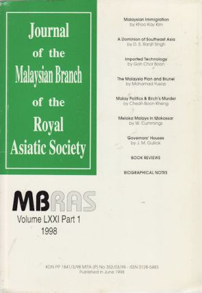 Journal of the Malaysian Branch of the Royal Asiatic Society, Volume LXXI, Part 1 (No. 274