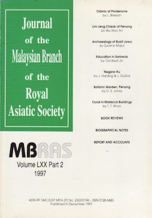Journal of the Malayan Branch of the Royal Asiatic Society. Volume LXX: Part 2, No. 273
