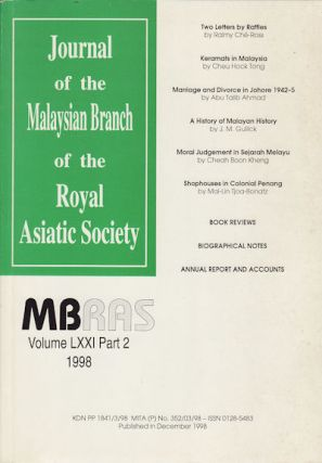 Journal of the Malaysian Branch of the Royal Asiatic Society, Volume LXXI, Part 2 (No. 275). MBRAS