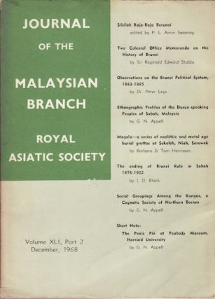 Journal of the Malaysian Branch of the Royal Asiatic Society. Vol XLI Part 2 (No. 214) December,...