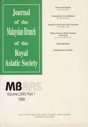 Journal of the Malayan Branch of the Royal Asiatic Society. Volume LXXII: Part 1. 1991 (No. 276