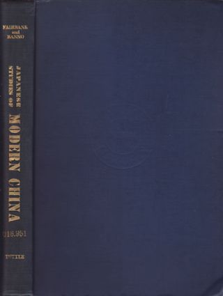 Japanese Studies of Modern China. A Bilbliographical Guide to Historical and Social-Science...