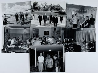 7 Official White House Photographs of Vice President Spiro Agnew in Vietnam. WHITE HOUSE...