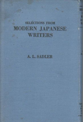 Selections from Modern Japanese Writers. A. L. SADLER.