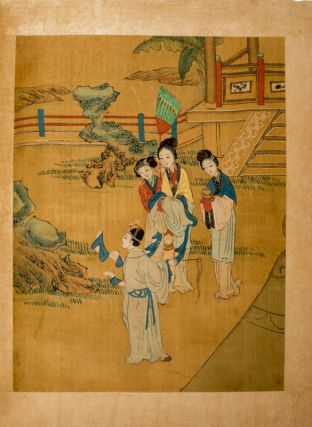 Twelve Chinese Full Colour Illustrations on Silk. CHINESE ALBUM