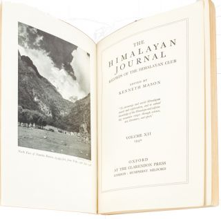 The Himalayan Journal. Records of the Himalayan Club. KENNETH MASON