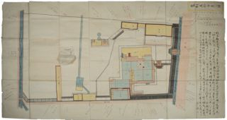 家相五拾分壹之圖. [Kasō Gojū bun ichi no zu]. [Japanese Meiji Period Floor Plan - House...