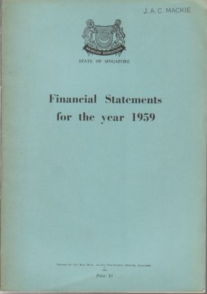 Financial Statements for the year 1959. CHUA KIM YEOW