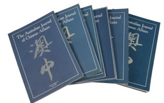 The Australian Journal of Chinese Affairs. Issue no.14-19/20 (1985: July - 1988: January and...