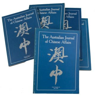 The Australian Journal of Chinese Affairs. Issue no.22, 24, 25, 27, 28 (1989: July - 1992: July)....