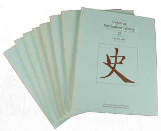 Papers on Far Eastern History. Issue no. 27,28,30, 31,33-36 (1983: March - 1987: September). JOHN...
