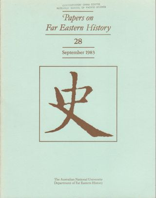 Papers on Far Eastern History. Issue no.28 (September 1983). JOHN FINCHER