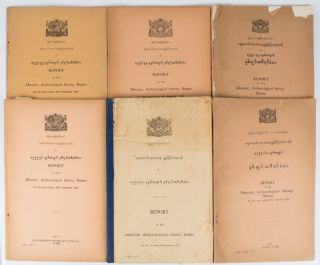 Report of the Director, Archaeological Survey, Burma. (1955: September - 1965: September)....