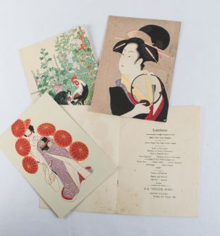 Three Luncheon and One Dinner Menu from the S.S. Hakone Maru]. NIPPON YUSAN KABUSHIKI