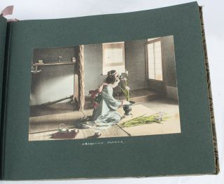 Album of Japanese Photographs. MEIJI ERA PHOTOGRAPHS IN ALBUM