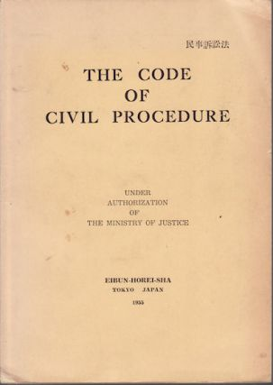 The Code of Civil Procedure. JAPANESE LAW