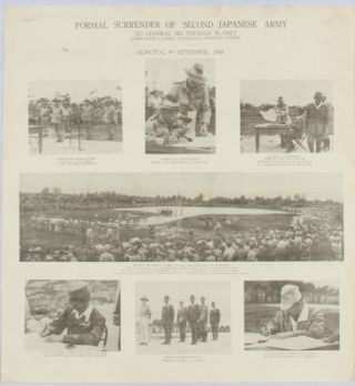 Formal Surrender of Second Japanese Army to General Sir Thomas Blamey Commander-in-Chief,...