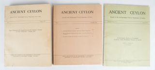 Ancient Ceylon. Journal of the Archaeological Survey of Ceylon. No.1 No.2 No.3. R. H. DE SILVA