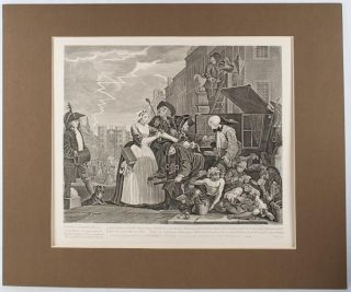 An Engraving from 'A Rake's Progress'. 'Invented Painted & Engrav'd by Wm. Hogarth & Publish'd...