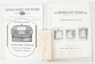 Japanese Trade Catalogues on Electric Current Meters
