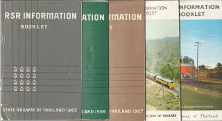 State Railway of Thailand Information Booklets. 1965-1969. THAI RAILWAYS