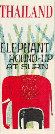 Thailand. Elephant Round-Up at Surin. THAILAND TOURISM PAMPHLET