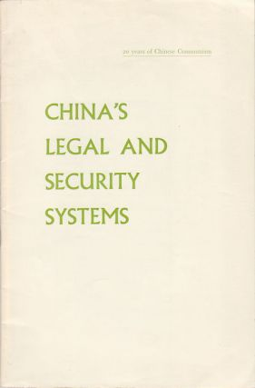 China's Legal and Security Systems