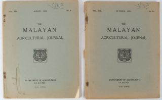 The Malayan Agricultural Journal. August, 1931. October 1931. MALAYAN AGRICULTURE