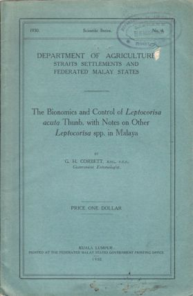 The Bionomics and Control of Leptocorisa acuta Thunb. with Notes on Other Leptocorisa spp. in...