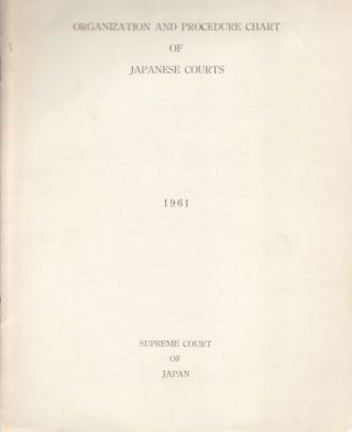 Organization and Procedure Chart of Japanese Courts. JAPANESE LAW