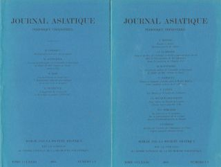 Journal Asiatique. JOURNAL ASIATIQUE.
