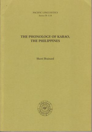 The Phonology of Karao, The Philippines. SHERRI BRAINARD