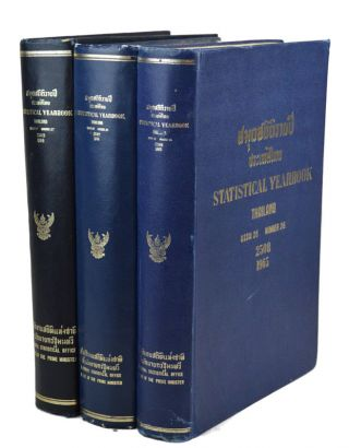 Statistical Yearbook Thailand Number 24 2506 1963 to Number 27 2509 1966. YEAR BOOK - THAILAND