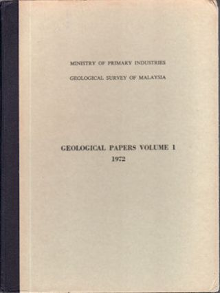 Geological Papers Volume I. 1972. GEOLOGICAL PAPERS