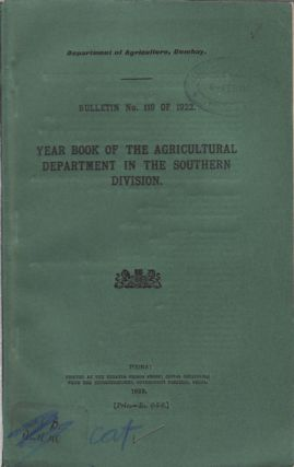Year Book of the Agricultural Department in the Southern Division. DEPARTMENT OF AGRICULTURE