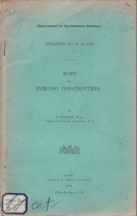 Note on Fencing Construction. T. GILBERT