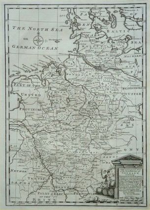 A New & Accurate Map of the North-West Part of Germany, containing Westphalia & Low. Saxony...