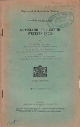 Grassland Problems in Western India. W. BURNS, L. B. KULKARNI AND S. R. GODBOLE