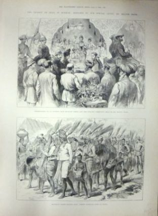 The Viceroy of India in Burmah: Sketches by our Special Artist, Mr Melton Prior. NINETEENTH...