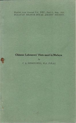 Chinese Labourers' Hats used in Malaya. C. A. GIBSON-HILL