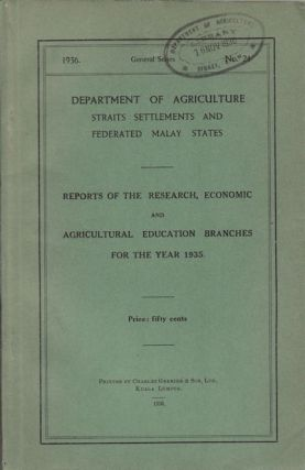 Reports of the Research, Economic and Agricultural Education Branches for the Year 1936....
