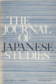 The Journal of Japanese Studies. SUSAN B. HANLEY