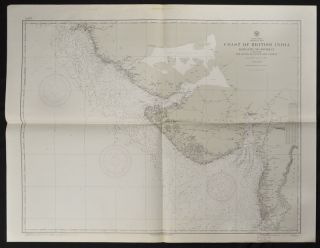 Coast of British India. #1589: Karachi to Bombay including the Gulfs of Cutch and Cambay. (7th. Edition, 1922) # 1590: Bombay to Cochin including The Laccadive Islands.