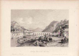 Landing Place at the Yuk-shan. China Antique Print. THOMAS ALLOM