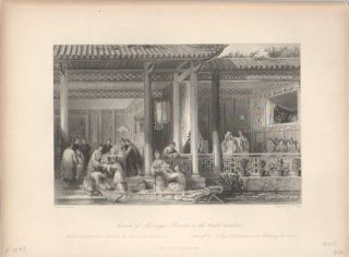 Arrival of Marriage Presents at the Bridal Residence. THOMAS ALLOM